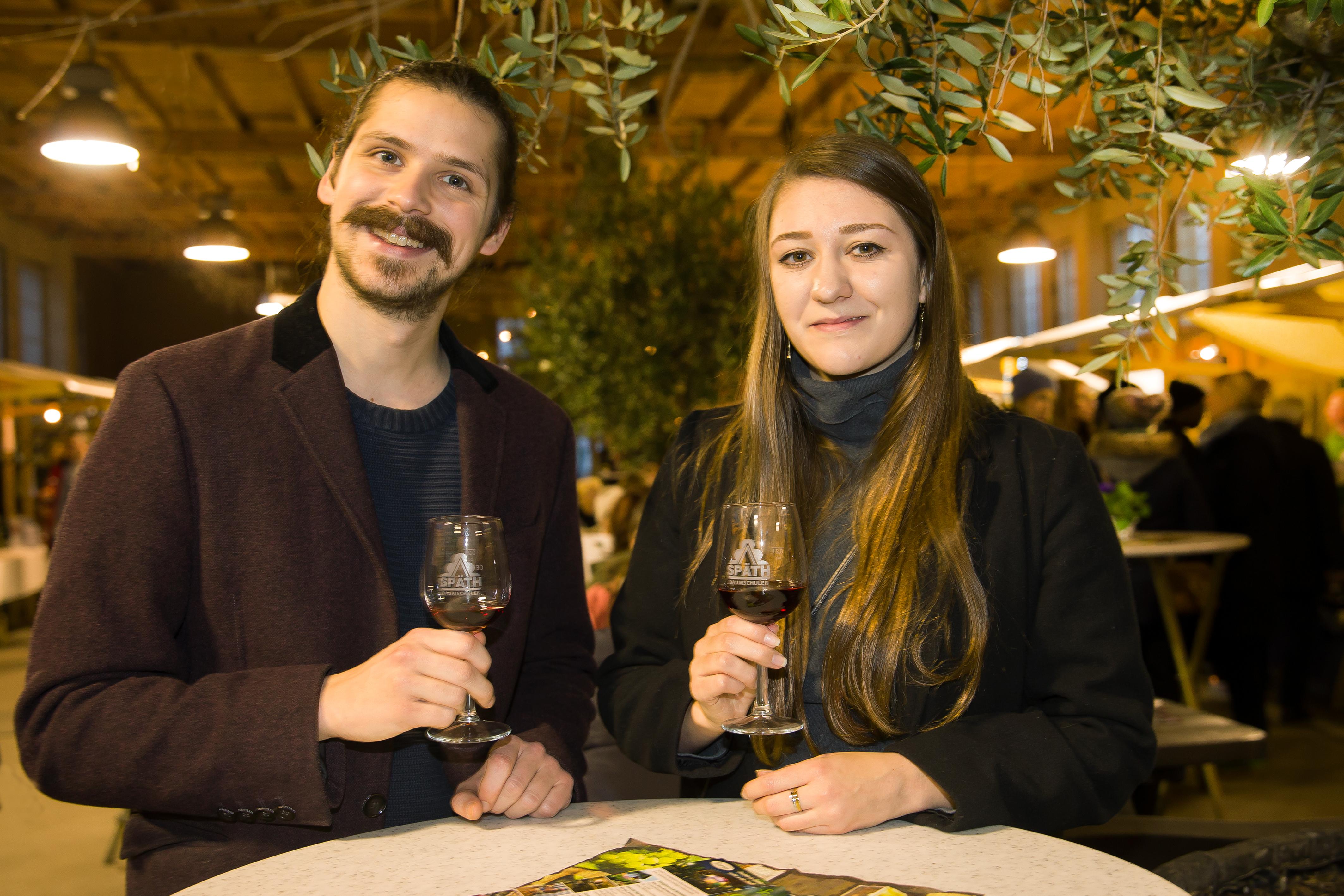 Besucher der Späth'schen Weinstraße