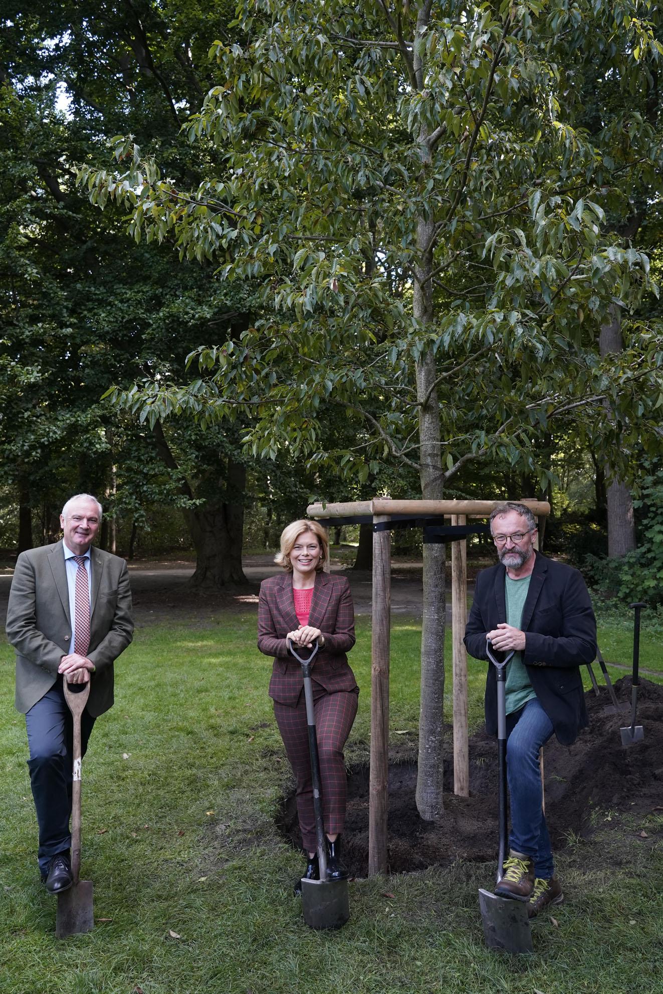 Baumpflanzung mit Bundeslandwirtschaftsministerin Julia Klöckner