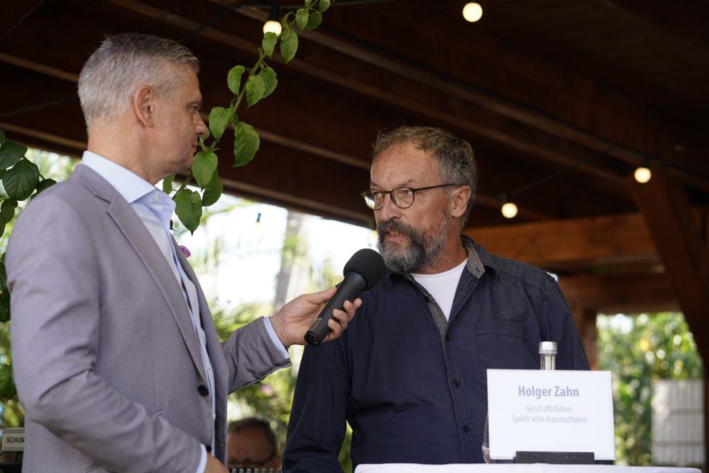 Moderator Ingo Hoppe und Geschäftsführer Holger Zahn